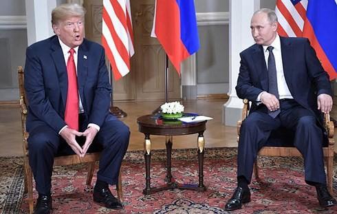 米ロ首脳会談「ロシア疑惑」否定で関係改善を強調 - ảnh 1
