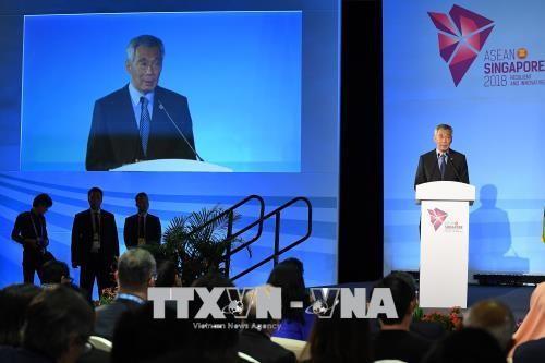 シンガポール首相 ASEANの中核的役割強化を - ảnh 1