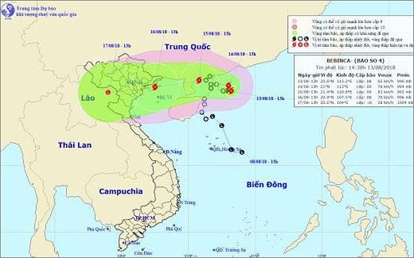 各地方 台風「ベビンカ」への対応策を展開 - ảnh 1