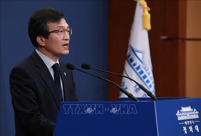 米韓首脳が電話会談 米大統領 南北対話で現状打開に期待 - ảnh 1