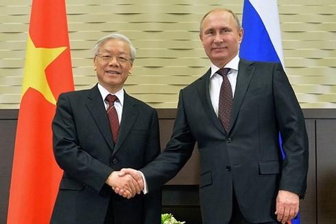 二国関係を新たな段階に押し上げる チョン党書記長の訪露 - ảnh 1