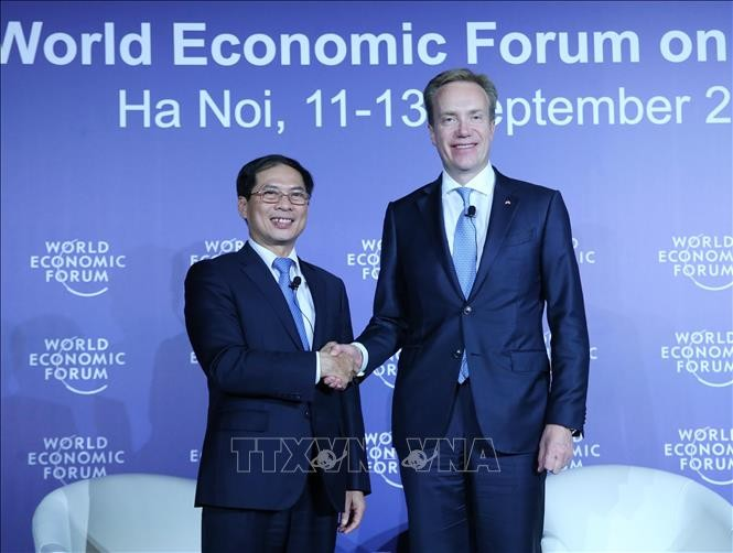WEF-ASEAN2018に関する記者会見 - ảnh 1