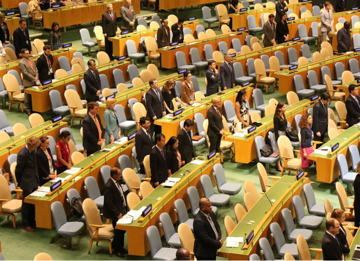 国連、クアン主席に黙とうをささげる - ảnh 1