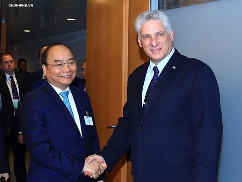 フック首相 国連総会に出席中の各国指導者らと会見 - ảnh 1