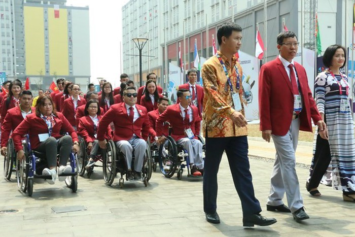 2018年アジアパラ競技大会、ベトナム国旗の掲揚式 - ảnh 1