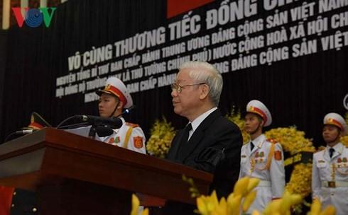 ド・ムオイ元書記長も追悼式と埋葬式 - ảnh 1