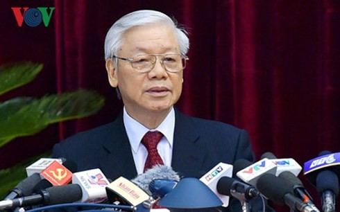 第8回党中央委総会、チョン書記長を国家主席候補として推薦 - ảnh 1
