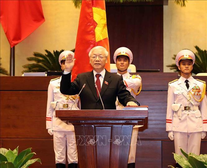 各国の指導者、新国家主席誕生に祝電 - ảnh 1