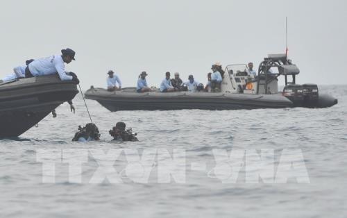 インドネシア機墜落、降着装置と本体の一部を発見 - ảnh 1