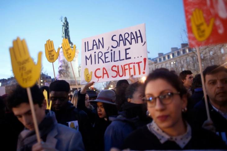 フランス各地で反ユダヤ主義に抗議する集会 - ảnh 1