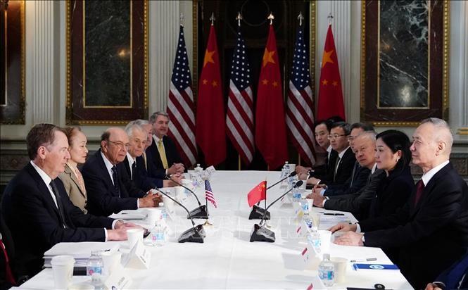 米中 貿易問題めぐる閣僚級交渉 1か月ぶり来週再開か - ảnh 1
