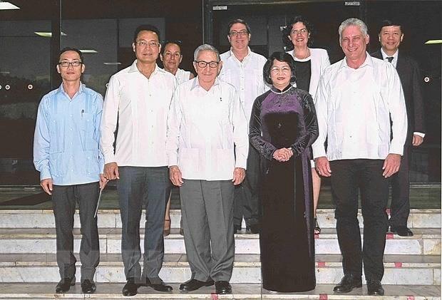 ティン国家主席、キューバの首脳と会見 - ảnh 1