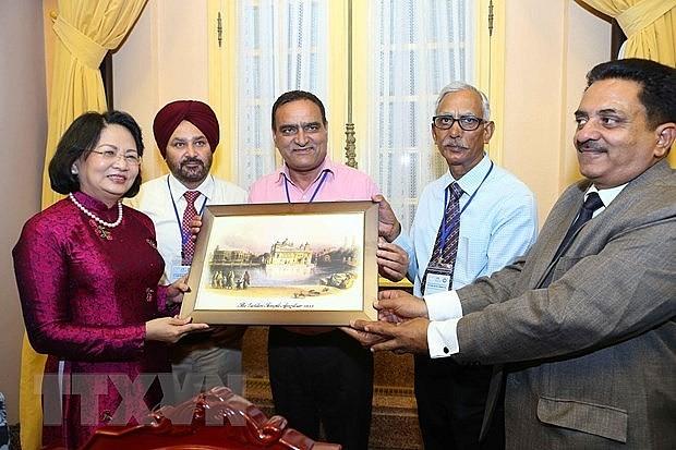ティン副主席、インドの人民代表団と会見 - ảnh 1