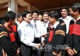 Presiden Vietnam Truong Tan Sang mengadakan temu kerja dengan Mahkamah Rakyat dan Kejaksaan Rakyat  provinsi Dac Lac - ảnh 1