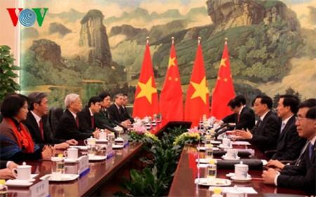 Mendorong perkembangan  hubungan Vietnam-Tiongkok - ảnh 1