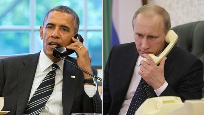 Pemimpin AS dan Rusia  mengadakan pembicaraan via telepon tentang situasi dunia - ảnh 1