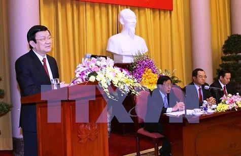 Presiden Truong Tan Sang mengapresiasi hasil aktivitas Kantor Presiden - ảnh 1