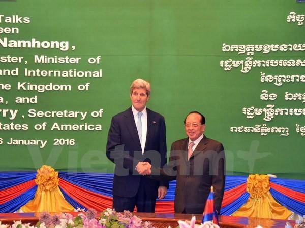 Menteri Luar Negeri Amerika tiba di Kamboja - ảnh 1