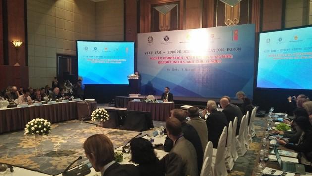 Pembukaan Forum Pendidikan Tinggi Vietnam-Eropa - ảnh 1
