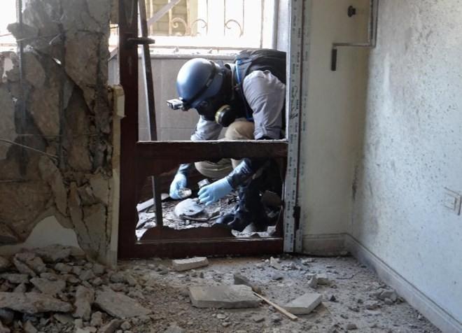 Rusia menegaskan kaum pembangkang menggunakan senjata kimia di provinsi Aleppo, Suriah - ảnh 1