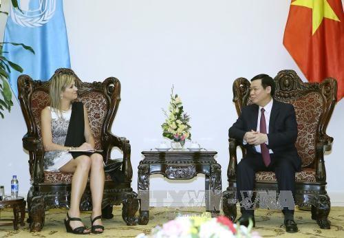 Deputi PM Vietnam,  Vuong Dinh Hue menerima Ratu Belanda, Maxima - ảnh 1
