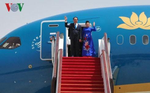 Presiden Vietnam, Tran Dai Quang akan melakukan kunjungan resmi ke Federasi Rusia dan Republik Belarus - ảnh 1