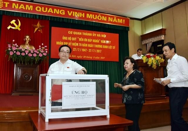 Aktivitas memperingati ultah ke-70 Hari Prajurit Disabilitas dan Martir Vietnam (27 Juli) - ảnh 1
