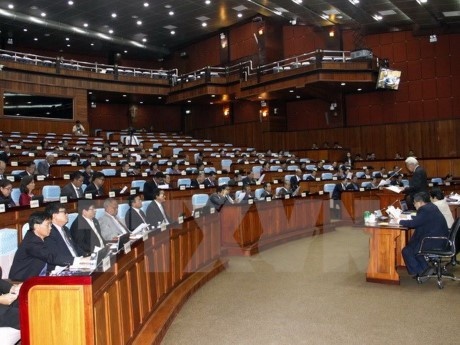 Kamboja: Komite Tetap Parlemen  melakukan  amandemen UU mengenai pemilu - ảnh 1