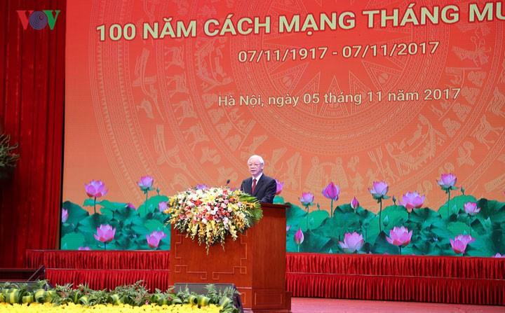 Sekjen KS PKV, Nguyen Phu Trong: Kemenangan Revolusi Vietnam berkaitan dengan pengaruh Revolusi Oktober Rusia - ảnh 1