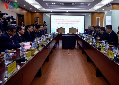Pimpinan VOV menerima delegasi kebudayaan dan pers Guangxi (Tiongkok) - ảnh 1