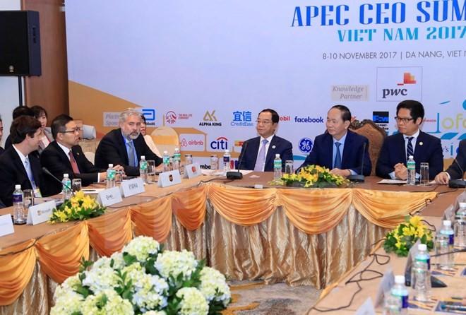 Presiden Vietnam, Tran Dai Quang  bertemu dengan badan-badan usaha besar AS - ảnh 1