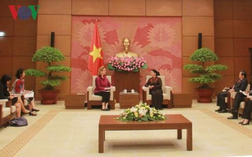 Ketua MN Vietnam, Nguyen Thi Kim Ngan menerima Direktor Nasional UNDP yang baru di Vietnam - ảnh 1