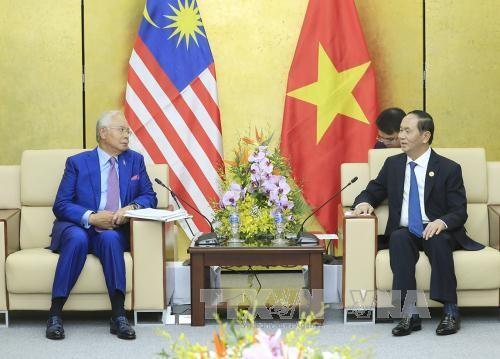 Presiden Vietnam, Tran Dai Quang menemui para pemimpin dari perekonomian- perekonomian APEC sehubungan dengan Pekan Tingkat Tinggi APEC 2017 - ảnh 2