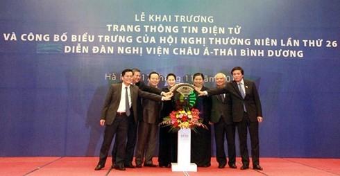 Ketua MN Vietnam, Nguyen Thi Kim Ngan menghadiri acara peresmian Portal  dan mengumumkan logo Konferensi APPF 26 - ảnh 1