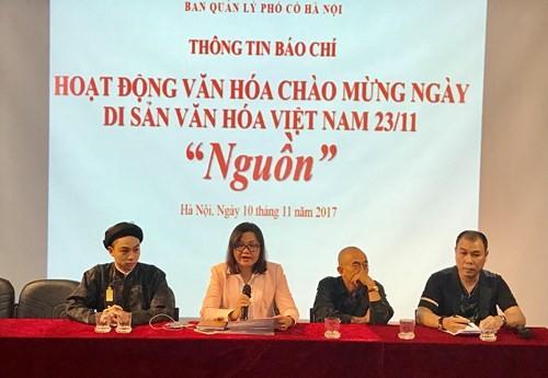 """Banyak aktivitas  pada  pekan """"Persatuan Besar Nasional-Pusaka budaya Vietnam"""" tahun 2017 - ảnh 1"""