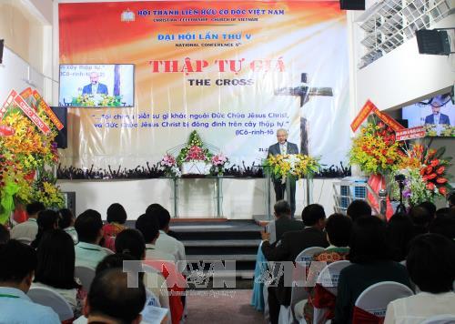 Pembukaan Kongres Nasional ke-5 Asosiasi Persaudaraan Kristen Vietnam  - ảnh 1