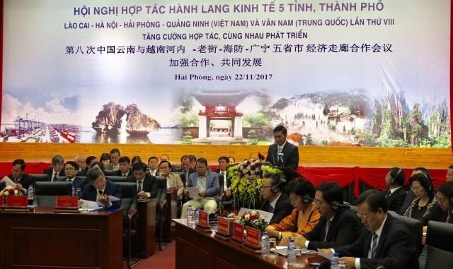 Kerjasama koridor ekonomi  5 provinsi dan kota Vietnam dan Tiongkok - ảnh 1