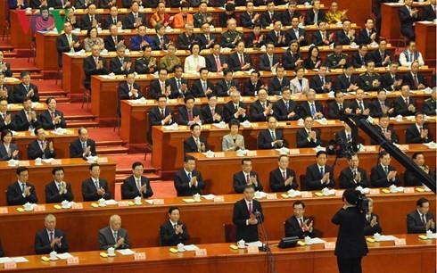 Pembukaan persidangan pertama Kongres Rakyat Nasional Tiongkok angkatan XIII - ảnh 1