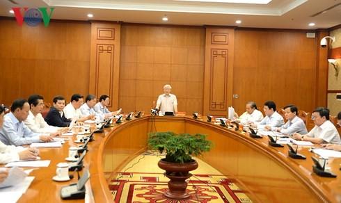 Sekjen KS PKV Nguyen Phu Trong memimpin sidang Badan Harian Badan Pengarahan KS PKV urusan pencegahan dan pemberantasan korupsi - ảnh 1