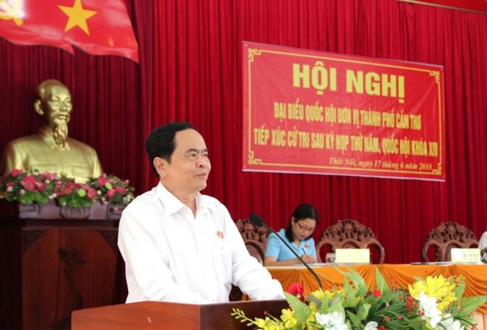 Ketua Pengurus Besar Front Tanah  Air Viet Nam, Tran Thanh Man mengadakan kontak dengan para pemilih Kota Can Tho - ảnh 1