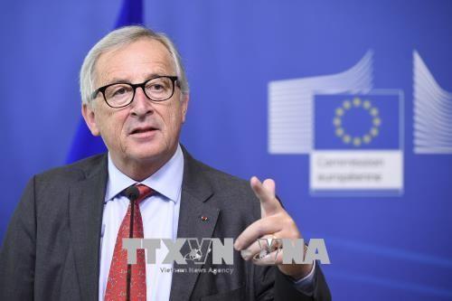 Uni  Eropa mengecam sanksi-sanksi tarif AS - ảnh 1