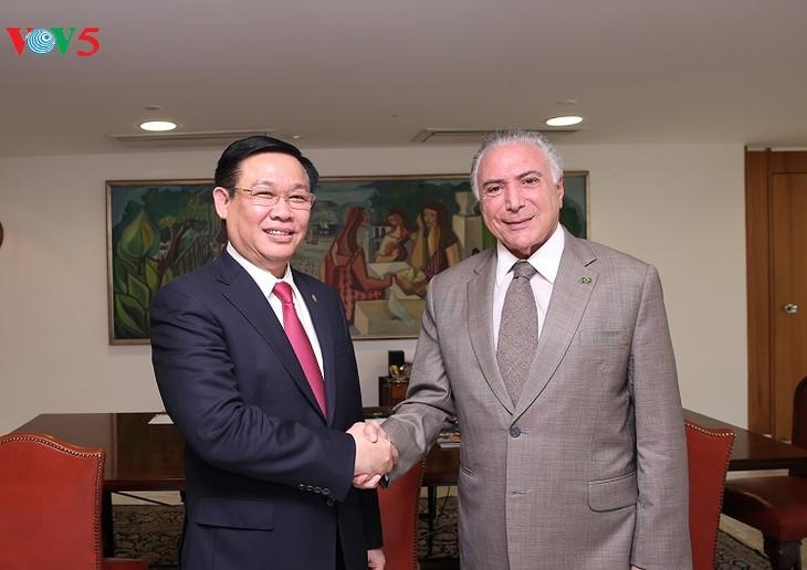 Deputi PM Viet Nam, Vuong Dinh Hue melakukan kunjungan resmi di Brasil - ảnh 1