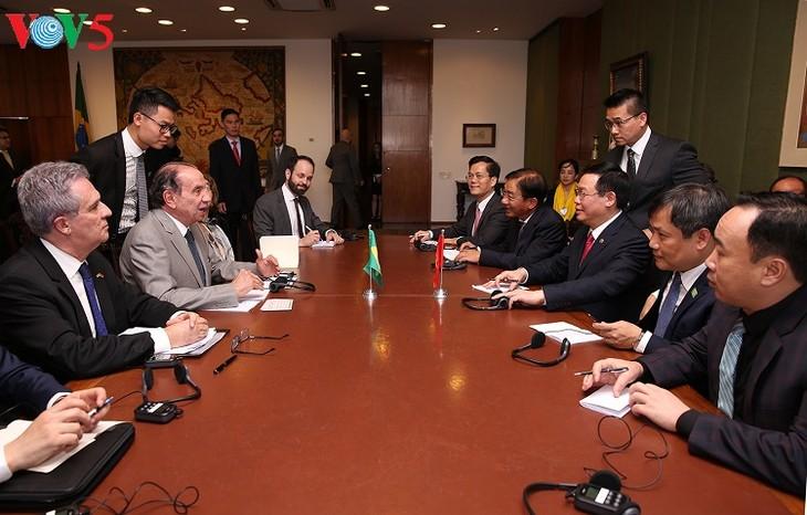 Deputi PM Viet Nam, Vuong Dinh Hue melakukan kunjungan resmi di Brasil - ảnh 2