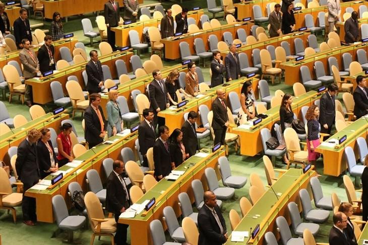 MU PBB mengheningkan cipta  untuk  Presiden Viet Nam, Tran Dai Quang - ảnh 1