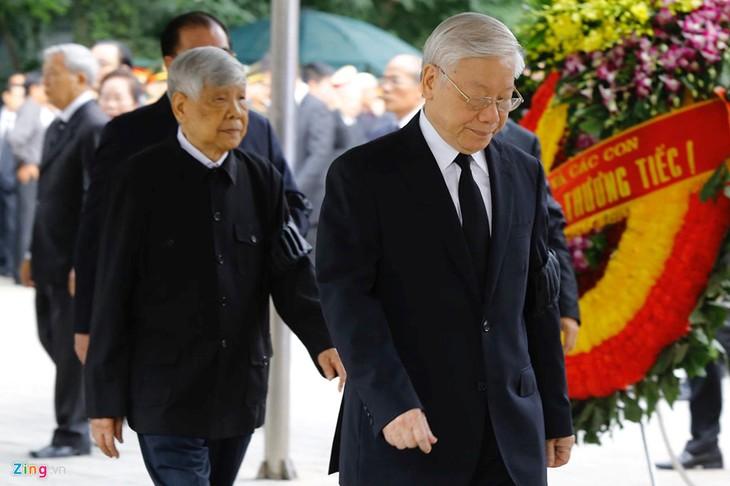 Upacara melayat  Presiden Viet Nam, Tran Dai Quang - ảnh 2