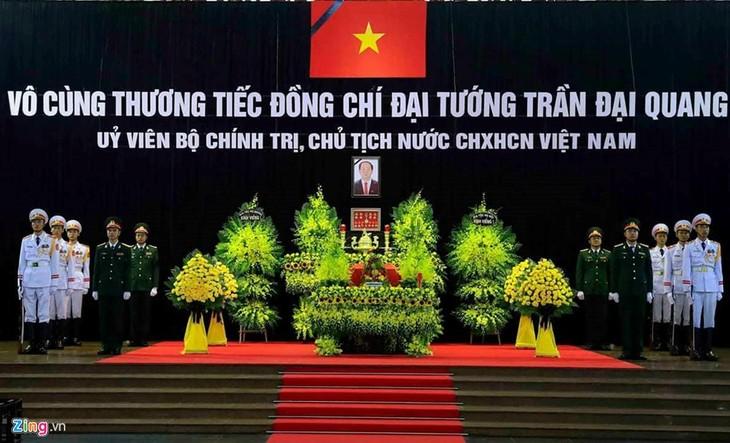 Upacara melayat  Presiden Viet Nam, Tran Dai Quang - ảnh 1