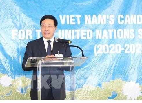 Deputi PM, Menlu Viet Nam, Pham Binh Minh memimpin penggerakan  terhadap negara-negara  untuk mendukung Viet Nam mencalonkan diri menjadi Anggota Tidak Tetap  DK PBB - ảnh 1
