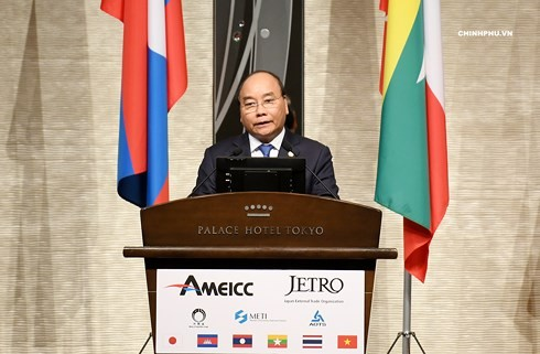 PM Viet Nam, Nguyen Xuan Phuc  menghadiri  Forum   Investasi Mekong-Jepang - ảnh 1
