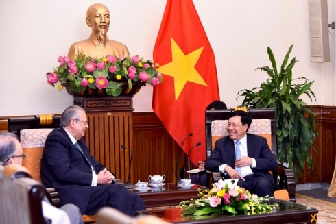 Deputi PM, Menlu Viet Nam, Pham Binh Minh menerima  Ketua Kelompok Visi  Forum APEC - ảnh 1