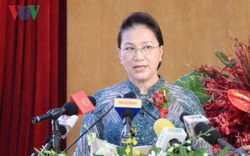 Ketua MN Viet Nam, Nguyen Thi Kim Ngan menghadiri  acara peringatan HUT ke-30 berdirinya Perusahaan Umum  Tan Cang Sai Gon - ảnh 1